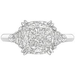 3.51 Carat Cushion-Cut Diamond Ring 'G/VVS2'