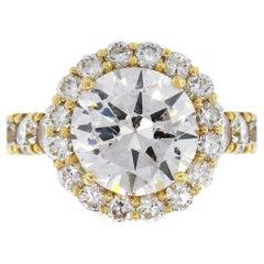 3.51 Carat GIA Certified Diamond Engagement Ring
