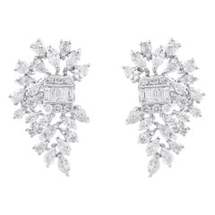 3.52 Carat Diamond 18 Karat White Gold Earrings