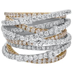 3.52 Carat Round Diamond Intertwined Fashion Ring