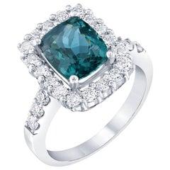 3.53 Carat Apatite Diamond White Gold Engagement Ring