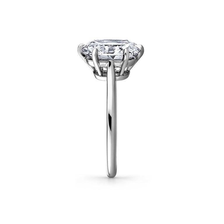 Cushion Cut 3.54 Carat Cushion Brilliant Cut Diamond Platinum Engagement Ring