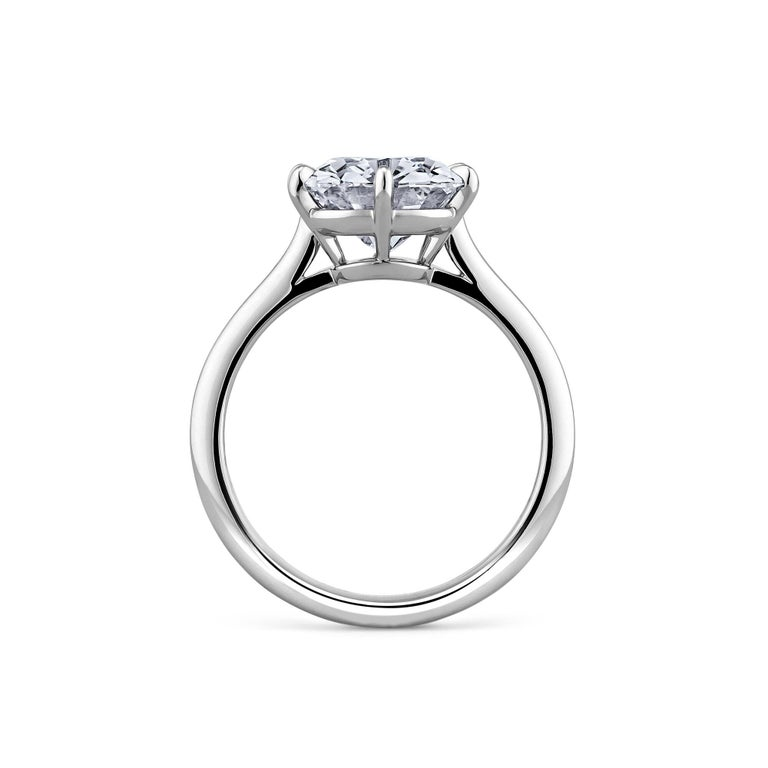 3.54 Carat Cushion Brilliant Cut Diamond Platinum Engagement Ring In New Condition In Greenwich, CT