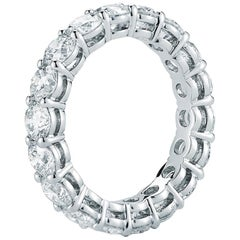 3.55 Carat Diamond Eternity Ring in 18 Karat White Gold
