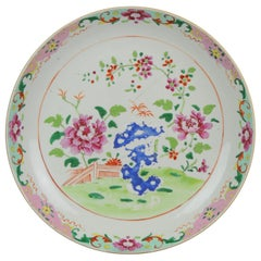 35.5CM 18C Chinese Porcelain Pre Bencharong Famille Rose Charger Southeast