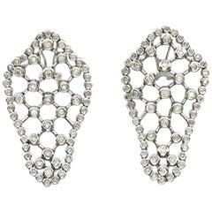 3.56 Carat Bezel Set Fashion Diamond Earrings