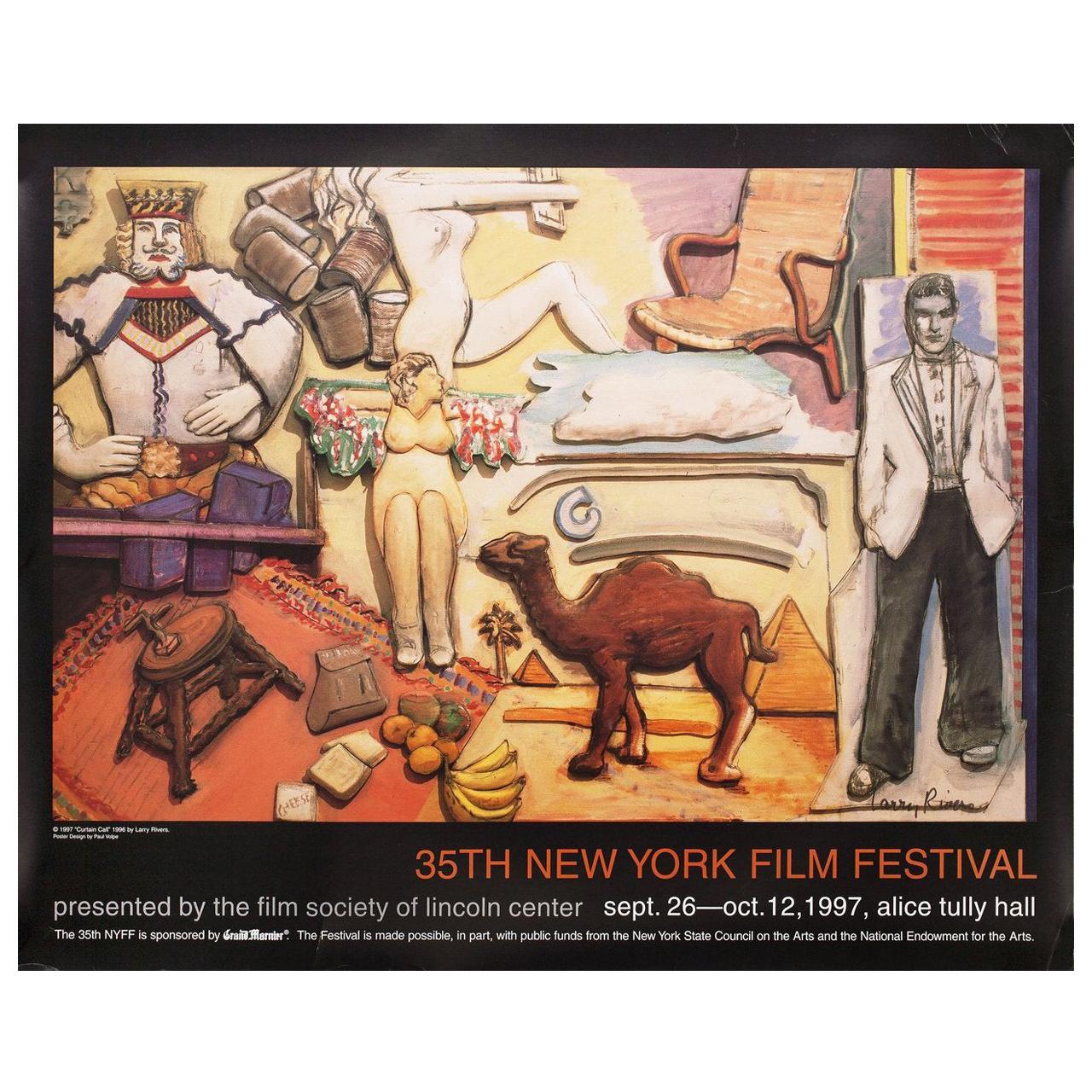 """35th New York Film Festival"" 1997 U.S. Poster Signed"