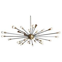 36 Lights Brass Sputnik Light Fixture