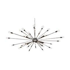 36 Lights Chrome Sputnik Light Fixture