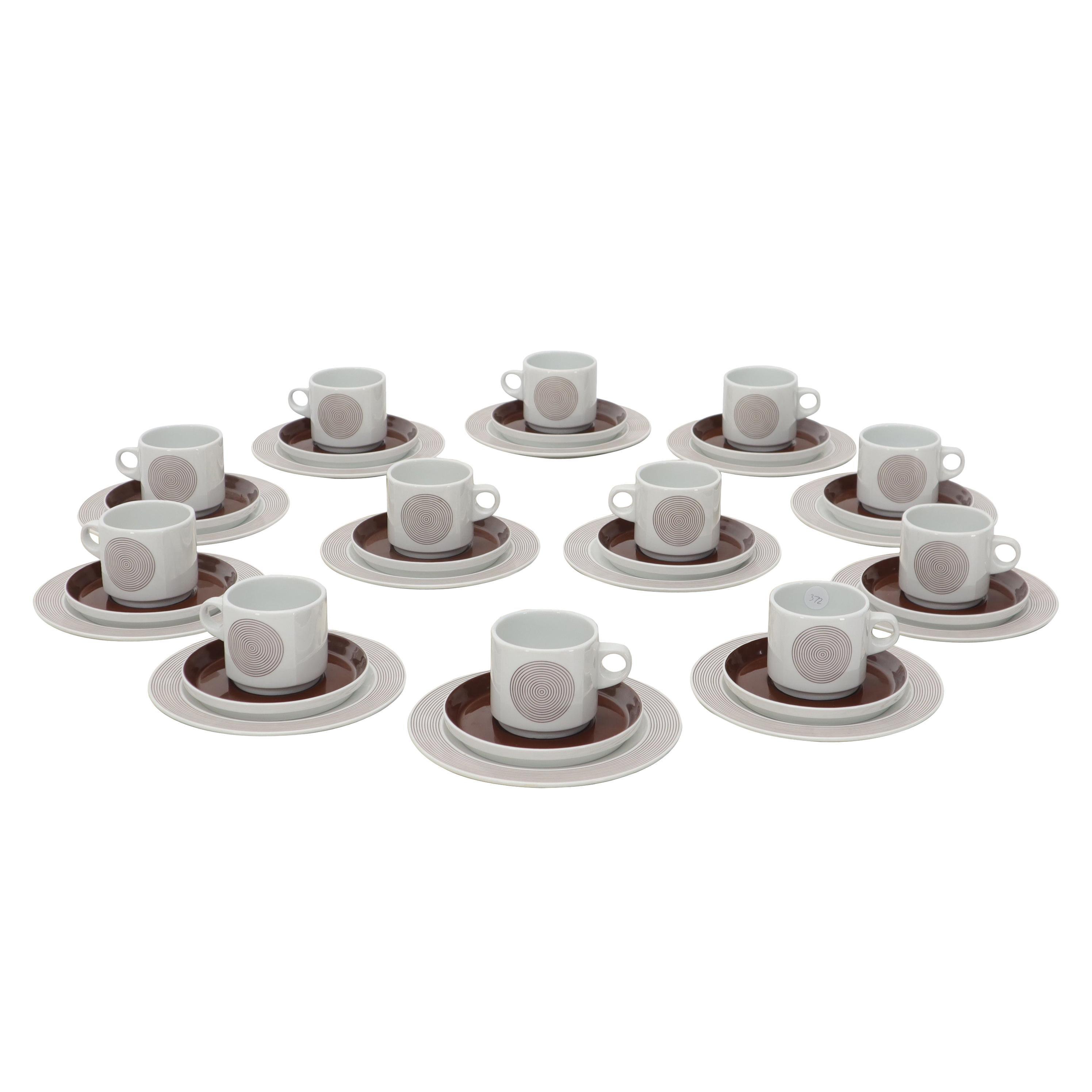 36 Pieces Porcelain Rosenthal Tea Coffee Set for 12