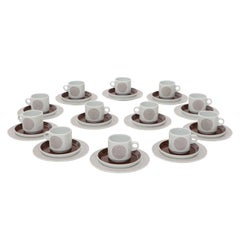 36 Pieces Porcelain Rosenthal Tea Coffee Set for 12