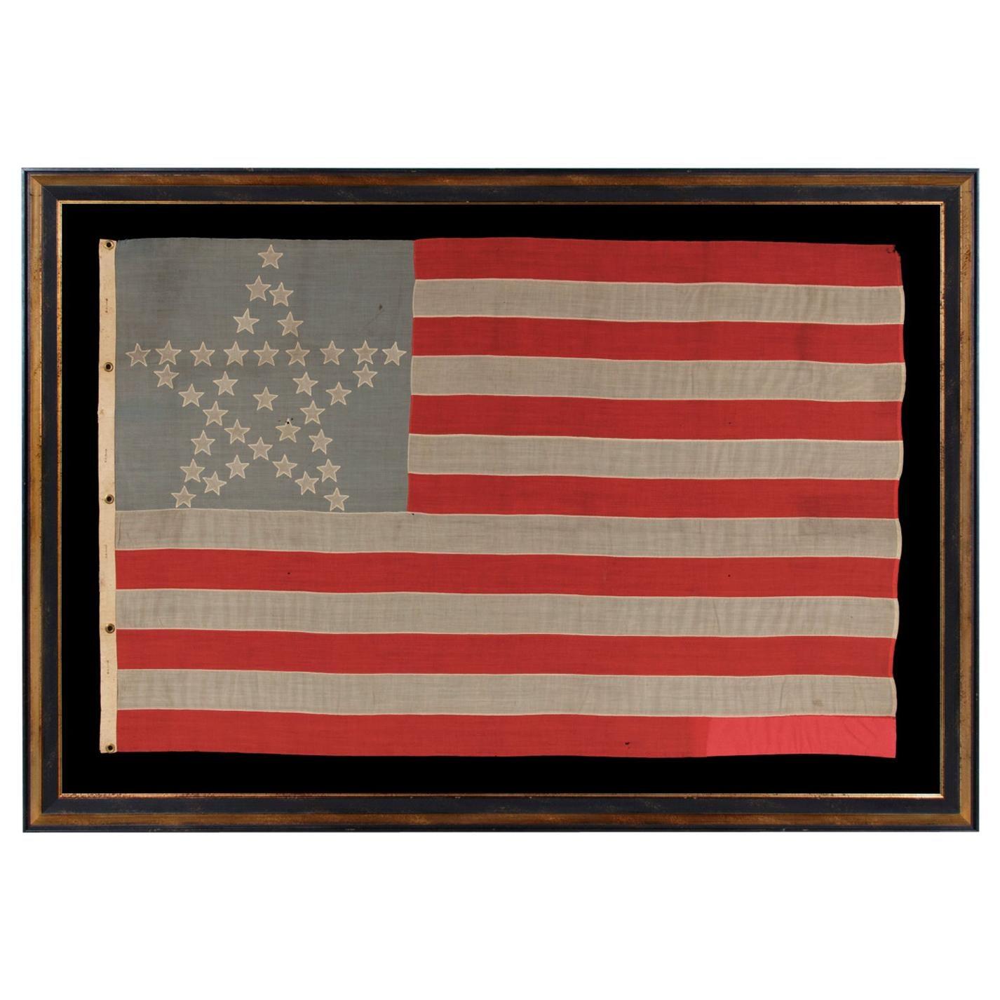 36 Star American Flag, Civil War Era, Nevada Statehood