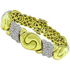 3.60 Carat Diamond Two-Tone Gold Bracelet