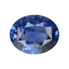 3.60 Carat Oval Natural Kashmiri GRS Certified Blue Sapphire