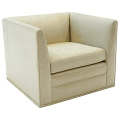 360 Degree Swivel Lounge Chair by Nierdemaier, Chicago, Off White /Beige Leather
