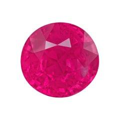 "3.65 Carat Oval Natural Burmese Mogok ""pinkish-red"" GRS Certified Ruby"