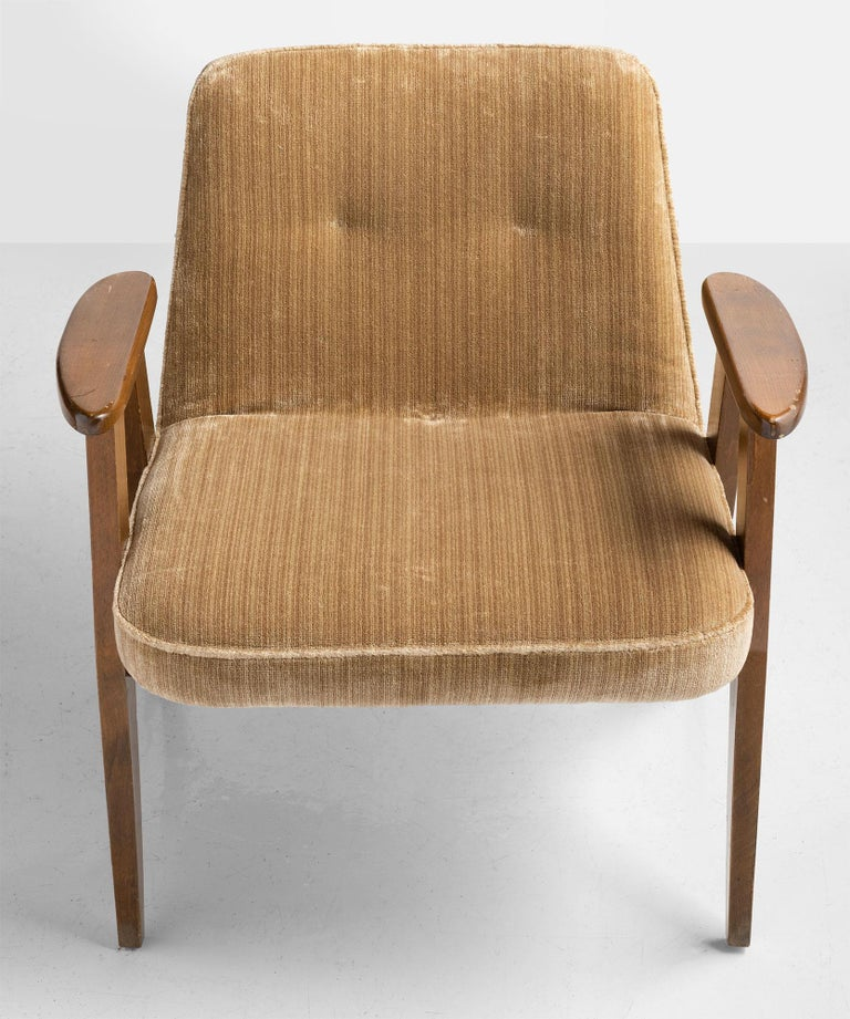 Mid-20th Century 366 Armchairs by Jozef Chierowski, Poland, circa 1960 For Sale