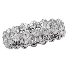 3.66 Carat Oval Cut Diamond Eternity Band