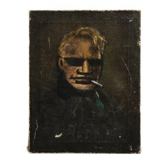 Robert Loughlin Painting, Blonde Brute, Signed