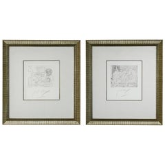 Pair of Peter Max Etchings V. 3. IX and XII