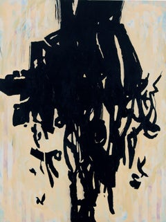 Because of Amani - Large Contemporary Abstract Expressionist Painting in Black