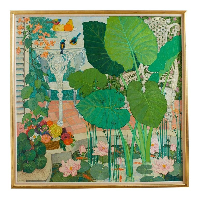 <i>Garden Lily Pond Painting</i>, 1960, Frederick Jessup, offered by Erin Lane Estate