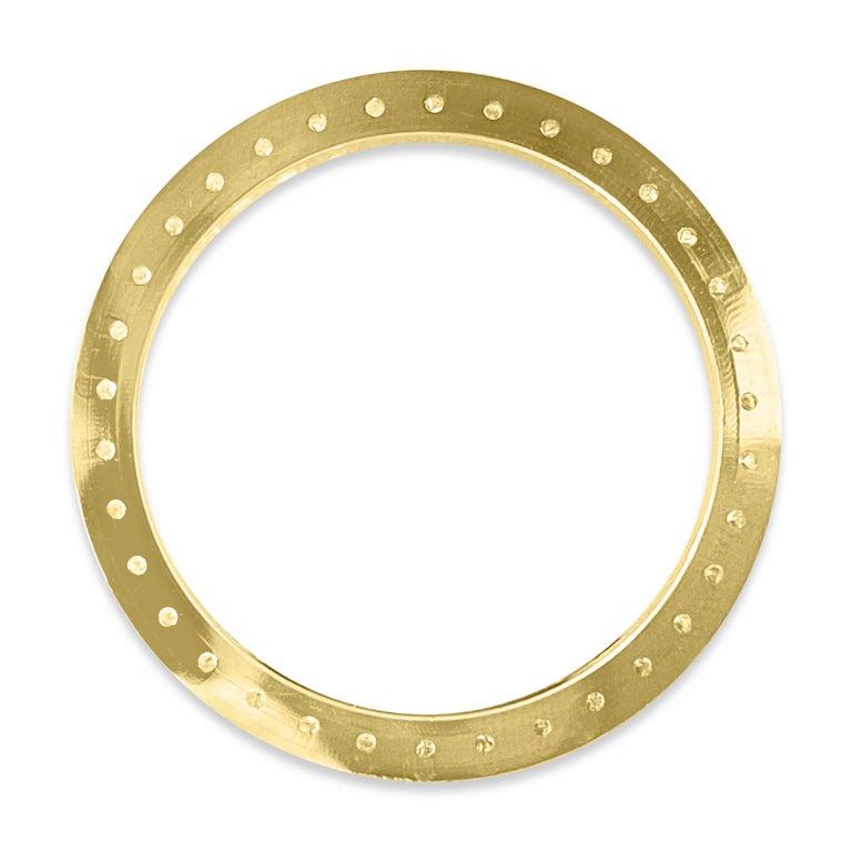 Round Cut Rolex Bezel 4.50 Carat VVS Diamonds 14 Karat Yellow Gold For Sale
