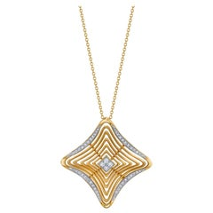 .37 Carat Diamond and 18 Karat Yellow Gold Necklace