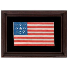 37 Star Antique American Flag with Stars in a Medallion Configuration