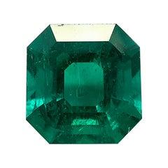 3.70 Carat Columbian Emerald GIA Unset Loose 3-Stone Engagement Ring Pendant Gem