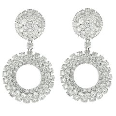 37.00 Carat Diamond Earrings