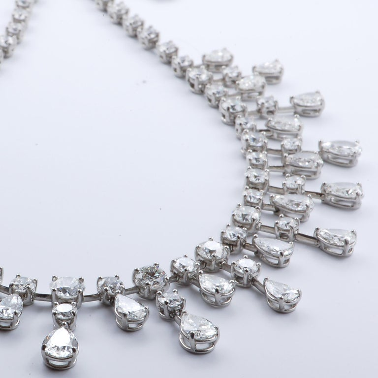 Sasha Primak 37.08 Carat Diamond and Platinum Statement Necklace In Excellent Condition For Sale In New York, NY