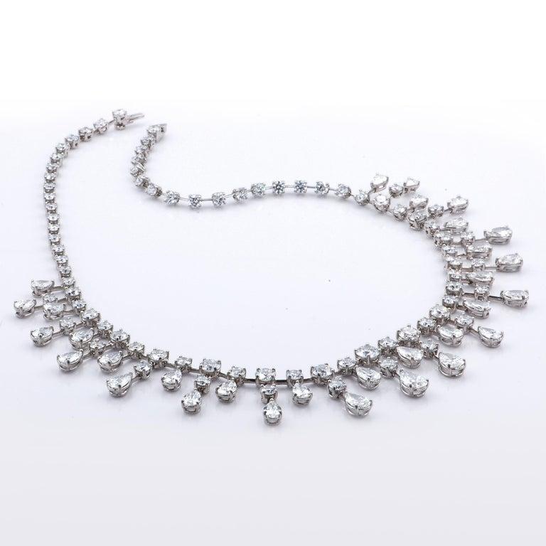 Women's Sasha Primak 37.08 Carat Diamond and Platinum Statement Necklace For Sale