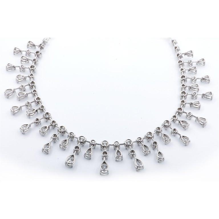 Sasha Primak 37.08 Carat Diamond and Platinum Statement Necklace For Sale 1