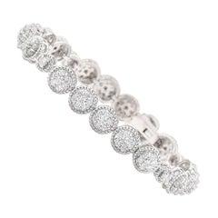 3.75 Carat Diamond 18 Karat White Gold Bracelet