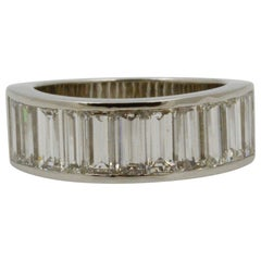 3.75 Carat Diamond Platinum Tapered Band
