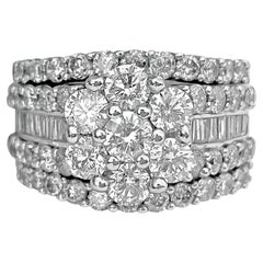 3.75 Carat Diamonds and White Gold Womens Ring
