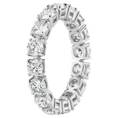 3.76 Carat Round Diamond Eternity Band Ring