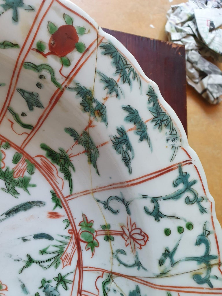 Majestic Zhangzhou Swatow Charger Ko Akae Verte China Ming Dynasty For Sale 6
