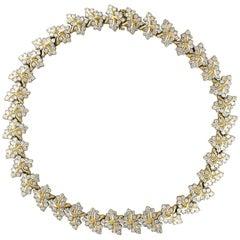 38 Carat Diamond Necklace and Bracelet 180 Grams 14 Karat Gold Bridal Suite