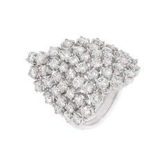 3.8 Ct Round Cut Diamond White Gold Cocktail Ring