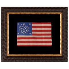 """38 Star American Flag with Stars Arranged in a """"Great Star"""" Pattern"""