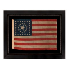 38 Star American Flag With Stars in a Rare Circle-In-A- Square Medallion