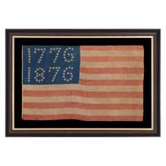"38 Star American Flag with Stars That Spell ""1776-1876"""