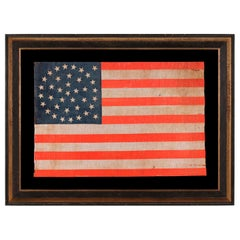 38 Star American Parade Flag, Medallion Pattern, Colorado Statehood, 1876-1889