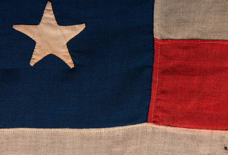 19th Century 38 Star Antique American Flag with Hand-Sewn Stars, ca 1876-1889 For Sale