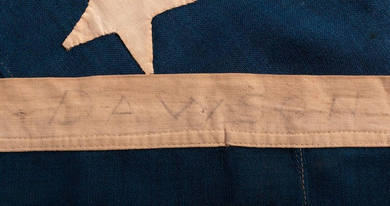 Wool 38 Star Antique American Flag with Hand-Sewn Stars, ca 1876-1889 For Sale