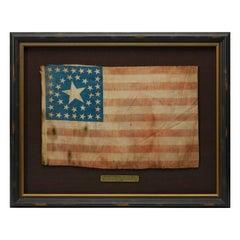 38-Star Antique American Flag with Unique Canton, circa 1876-1890