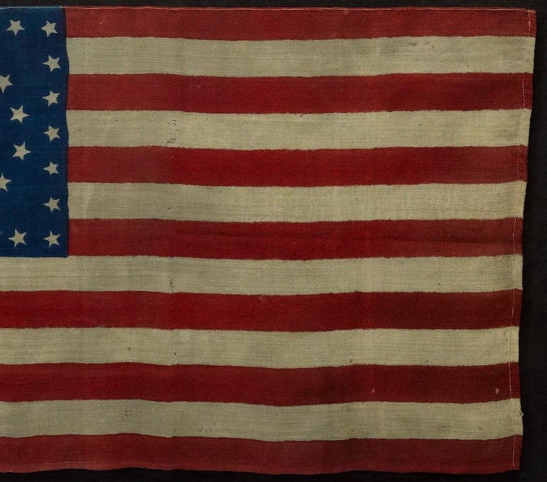 38-Star Antique American Flag with Unique Star Pattern, circa 1876 In Good Condition For Sale In Colorado Springs, CO