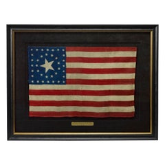 38-Star Antique American Flag with Unique Star Pattern, circa 1876